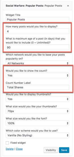 social media popular post widget